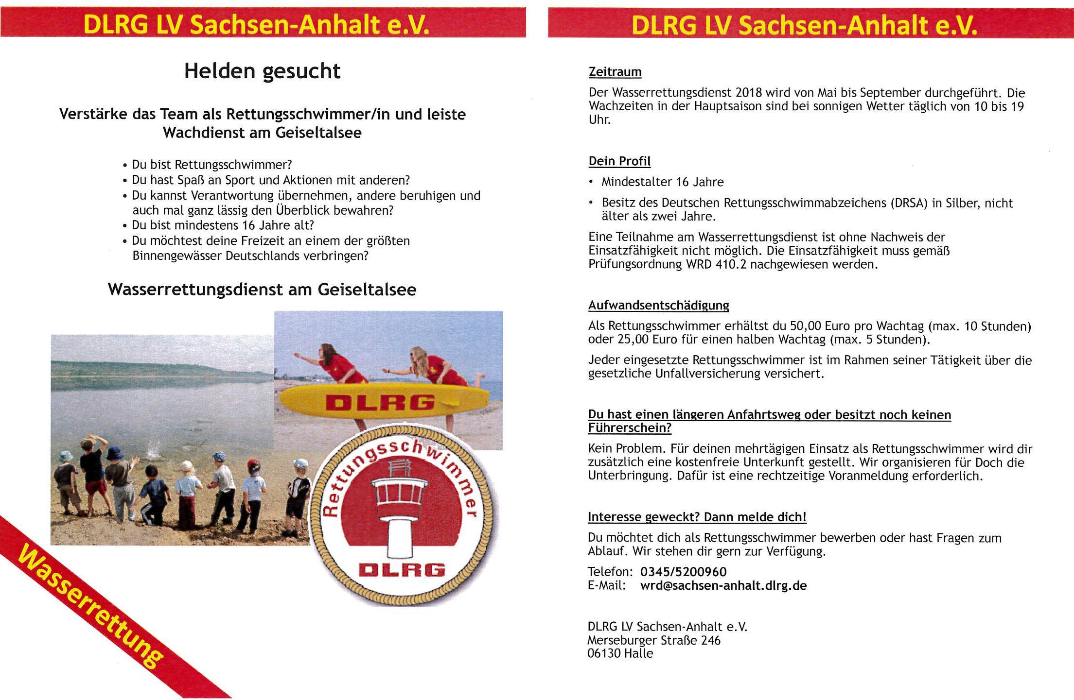 Veranstaltungsportal Mitteldeutschland - DLRG Trägerverein IGDM e V